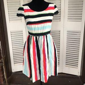 Anthropologie dress Maeve silk twirl fit-n-flair